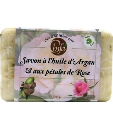 Savon à l'huile d'Argan et aux pétales de Rose