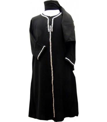 Abaya Enfant Noir Dubai Stress